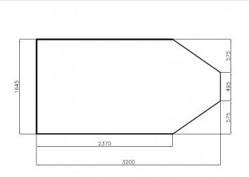 Bodenplatte 3200x1640x21