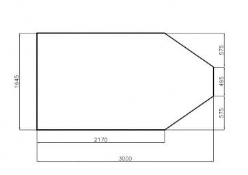 Bodenplatte 3000x1640x21