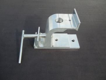 Aluminium Rohrbahnkonsole mit Hakensatz
