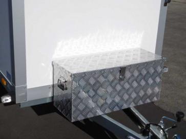 Staubox Alu Riffelblech BxTxH: 800x300x350mm 80 Liter