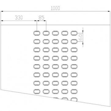 Lochblech Stahl-blank 5-Loch 4000x1000x3