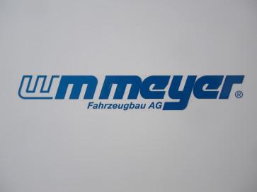 """Aufkleber """"WM Meyer"""" blau 395x60mm"""