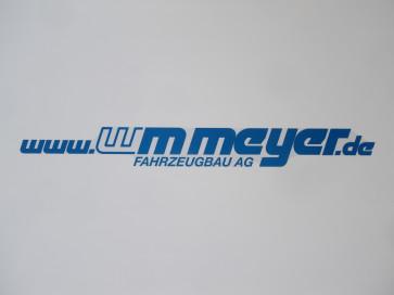 """Aufkleber """"www.WM Meyer.de"""" 550x60mm"""