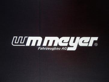 """Aufkleber """"WM Meyer"""" weiß 193x30mm"""