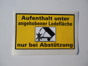"Aufkleber ""Aufenthalt"" 98x60mm"