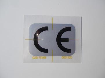 """Aufkleber """"CE-Zeichen"""" 53x37mm"""