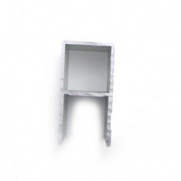 Einfassprofil A-Profil 25mm/60mm roh wm meyer