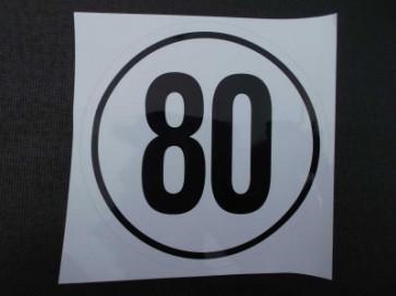 Aufkleber 80km/h