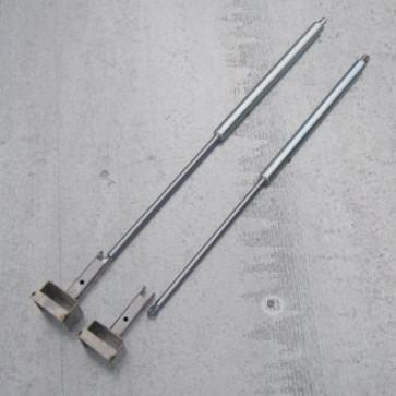 2 Gasdruckdämpfer m. Halter f. Aluheckklappe