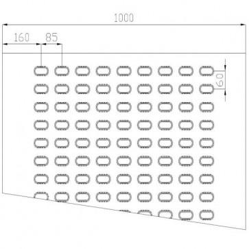 Lochblech Stahl-blank 9-Loch 2000x1000x3