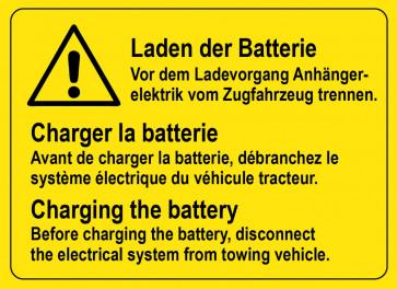 Laden der Batterie