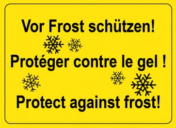 Warnaufkleber Vor Frost schützen