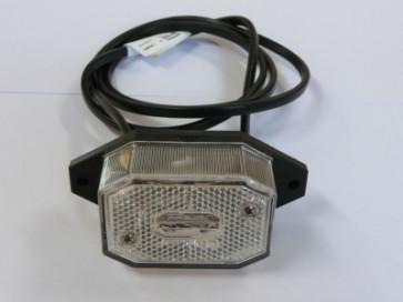 Begrenzugsleuchte weiss mit Kabel 0,5 DC und Halter VK