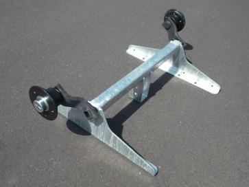 ungebremste Achse bis 750 kg Flansch 1130mm Auflage 735mm