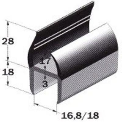 pvc profil 18 5mm 5570185 ersatzteil f pkw anh nger wm meyer. Black Bedroom Furniture Sets. Home Design Ideas