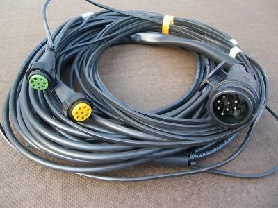 Kabelsatz 10 Meter 13 Polig mit 2 Abgängen 2x RFS 8 pol. Bajonett (62