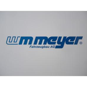 """Aufkleber """"WM Meyer"""" blau 213x33mm"""