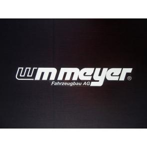 """Aufkleber """"WM Meyer"""" weiß 395x60mm"""