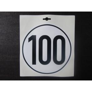 Aufkleber 100km/h