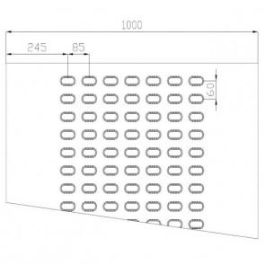 Lochblech Stahl-blank 7-Loch 2000x1000x3